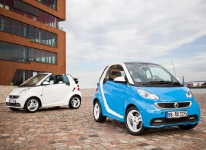 El Smart Fortwo Edition Iceshine está disponible tanto en versión coupé como cabrio.