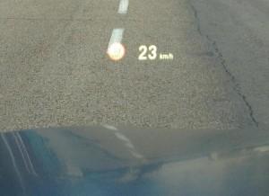 El Head Up Display del BMW Serie 6 Gran Coupe es bastante útil, sobre todo cuando llevamos activado el navegador.