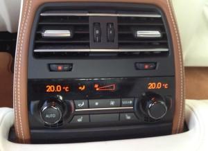 Consola central del BMW Serie 6 Gran Coupe.
