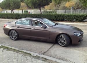 El BMW Serie 6 Gran Coupe mide más de cinco metros de largo.