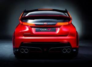 Vista trasera del nuevo Honda Civic Type R Concept.