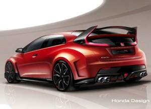 El Honda Civic Type R Concept promete ser uno de los coches más espectaculares del Salón de Ginebra.