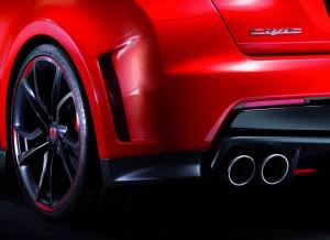 La zaga y las llantas del Honda Civic Type R Concept son espectaculares.