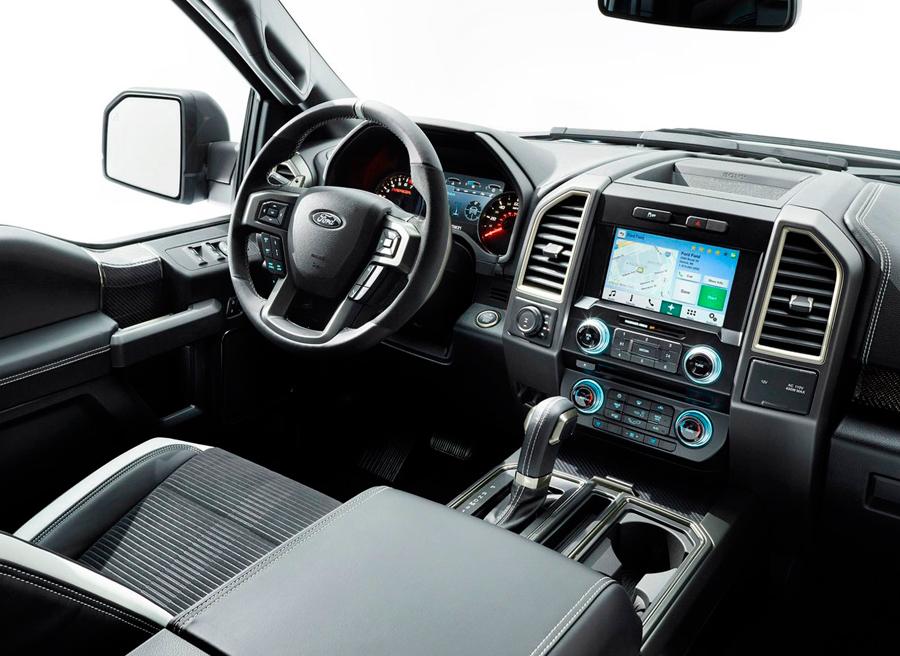 F 150 Raptor Interior >> El nuevo Ford F-150 Raptor en el Salón de Detroit 2015 | Autocasion.com
