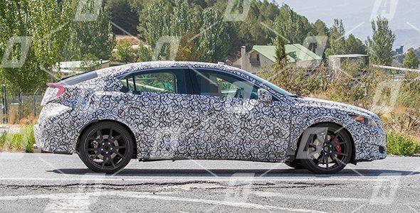 Fotos espía del futuro Honda Civic Type R