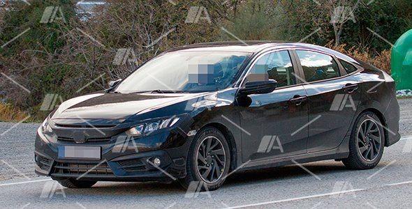 Fotos espía del nuevo Honda Civic Sedan 2017