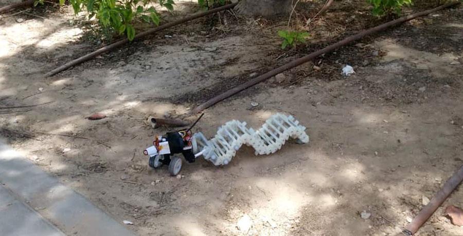 Crean un robot con movimientos de serpiente
