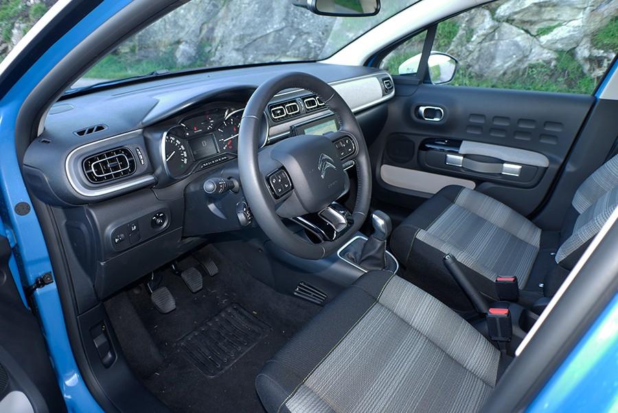 El diseño del interior del C3 es práctico y acogedor.