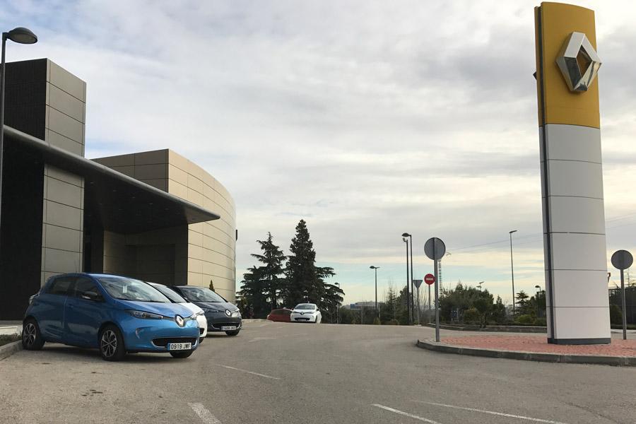Exterior del Renault Zoe.